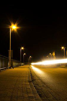 Street At Night, Road, Light In The Night, Ray Of Light