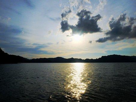 Malaysia, Thailand, Sea, Sunset