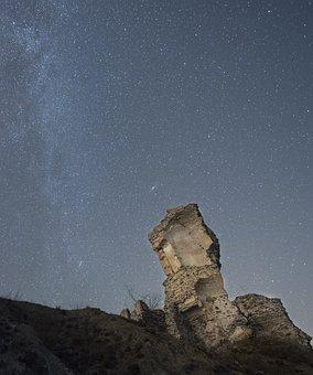Tower, Milky Way, Sky, Star, Mystery, Space