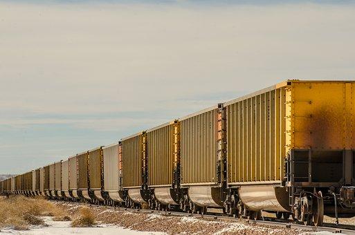 Train Cars, Train, Boxcars, Box Cars, Railroad, Rail