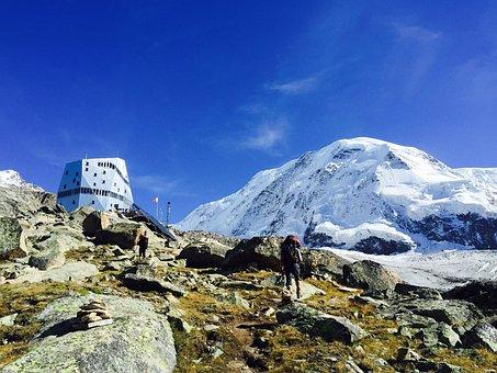 Monte Rosa Hut, Zermatt, Snow, Valais, Series 4000