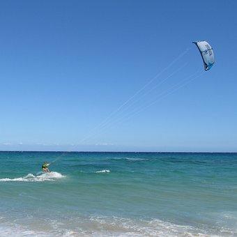 Kite, Surf, Sardinia, Costa Rei, Water Sports
