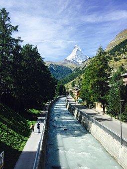 Matterhorn, Zermatt, Valais, Series 4000, Landscape