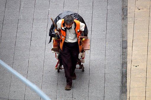 Man, Adult, Indigent, Street Dweller, Almoner, Colombia