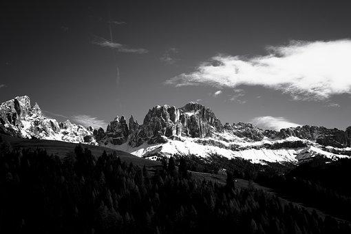 Mountains, Dolomites, Hiking, Snow, Landscape, Panorama