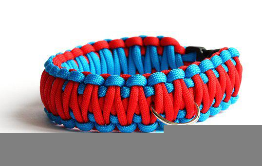 Paracord Bracelet, Dog Collar, Woven