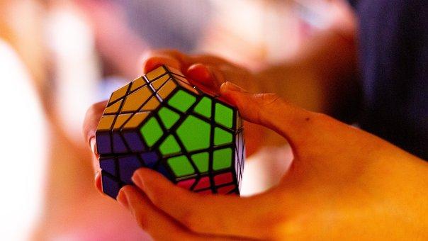 Hands, Megaminx, Rubik's Cube, Cube, Rubik, Puzzle