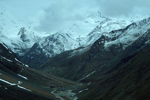 Ladakh, Manali, Sandip, India, Rock, Mountain, High