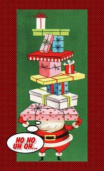 Vintage Christmas Card, Christmas, Card, Santa Claus