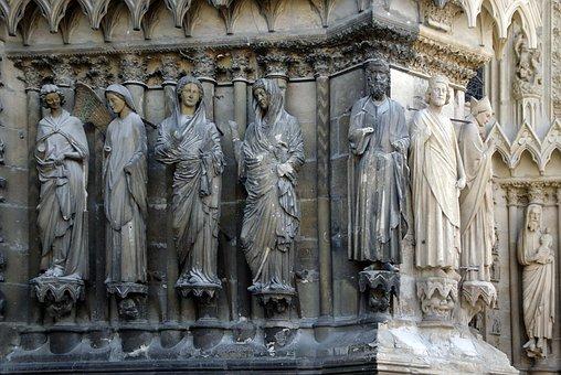 Statues, Saints, Cathedral, Sculptures