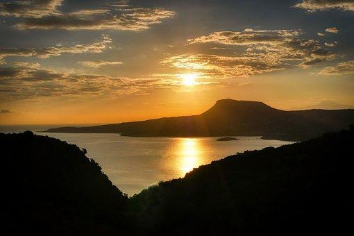Sunset, Sea, Bay, Sky, Sun, Sunrise, Dusk, Dawn