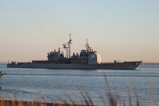 Boat, Ship, Navy, Harbor, Ocean, Sea, Sunset, Sail
