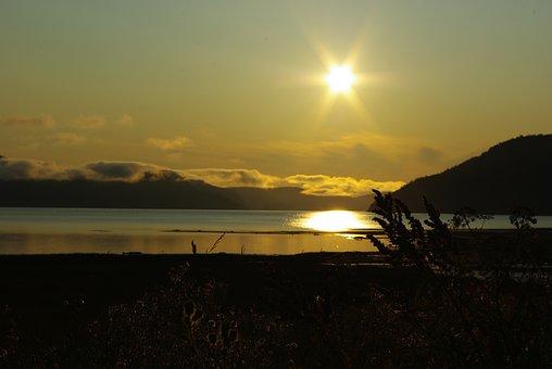 Saguenay-lac-saint-jean, Quebec, Sun, Sunlight, Clouds