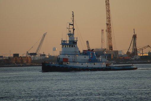 Sarah Dann, Tugboat, Towboat, Tow, Hampton Roads