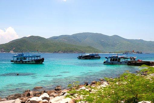 Island, Boats, Sea, Tropical Island, Tropical, Ocean