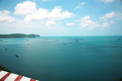 Sea, Horizon, Boats, Vessels, Ocean, Seascape, Shore