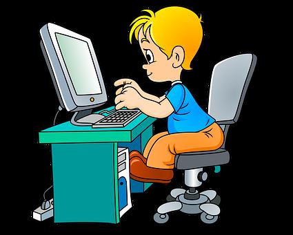 Child, Computer, Student, Boy, Little Boy, Type, Typing