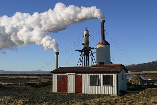 Iceland, Power Plant, Geothermal Energy, Geothermal