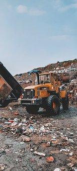 Tractor, Dump Site, Truck, Dump Truck, Vehicle