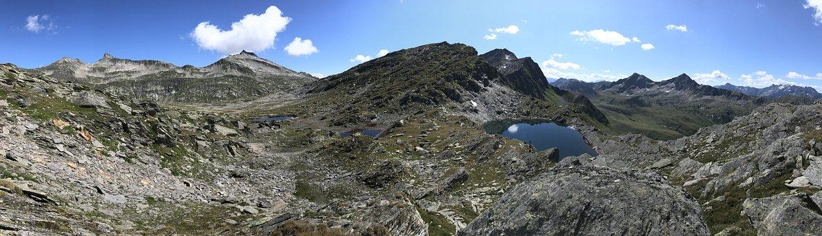 Panorama From Pizzo Corandoni, Alpine Route, Alps