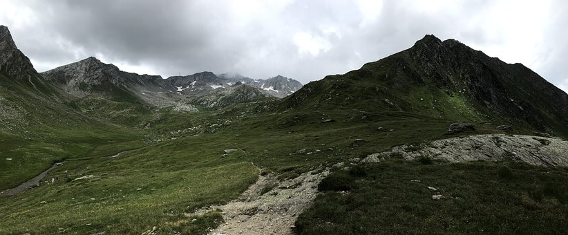 Towards The Lace Of The Naret, Alpine Route, Alps