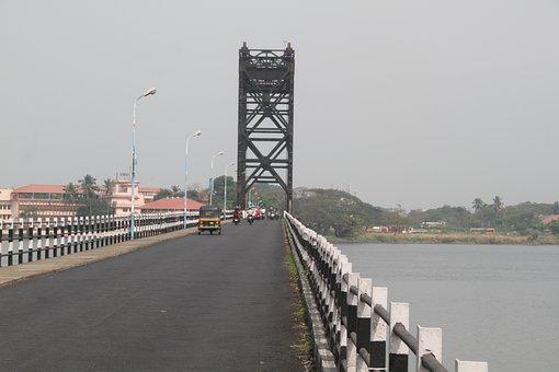 Bridge, River, Vehicles, Traffic, Structure