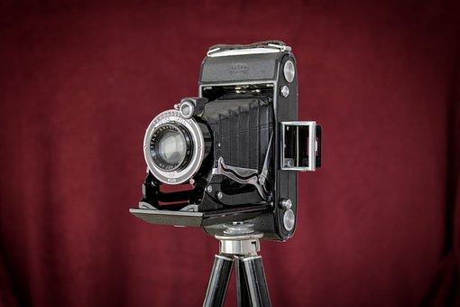 Camera, Folding Camera, Tripod, Camera Lens, Lens