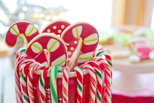 Christmas Cookies, Candy Canes, Candies, Sweets