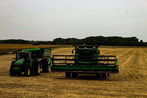 Tractors, Field, Agriculture, Farmer, Harvest, Rural