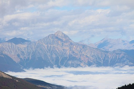 Mountains, Sea Of Clouds, Fog, Landscape, Summit, Foggy