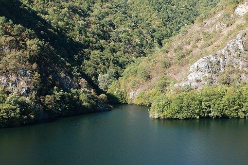 Mountains, Lake, Trees, Mountain Range, Mountainous