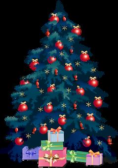 Christmas Tree, Presents, Christmas, Ornaments, Xmas
