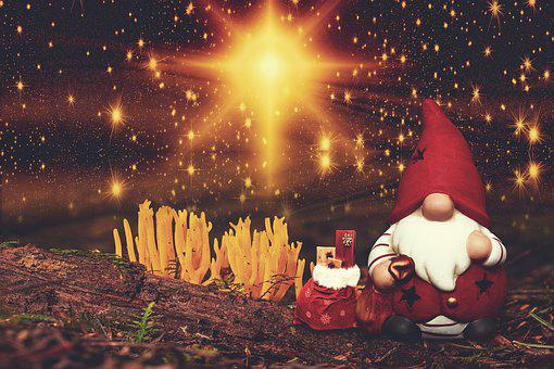 Gnome, Gift Bag, Gifts, Noel, Christmas, Decoration