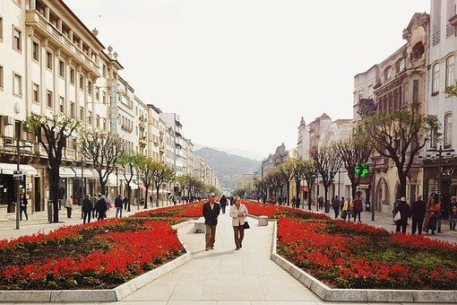 Braga, Portugal, Europe, City, Architecture, Street
