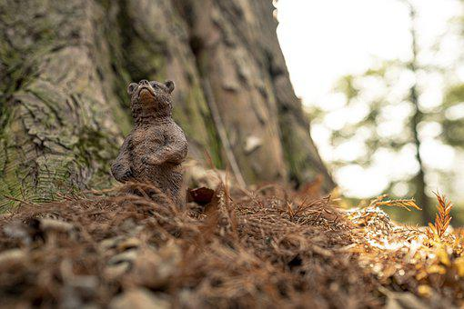 Cub, Grizzly, Toy, Miniature, Sculpture