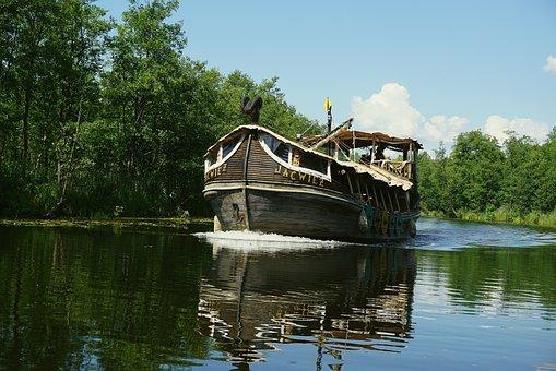 Ship, Lake, Water, Boat, Cruise, Ship Yćwież, Shipping