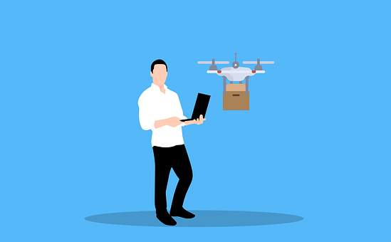 Drone, Delivery, Man, Avatar, Male Avatar