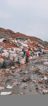 Dump Area, Workers, Working, Garbage Dump, Rubbish Dump