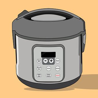 Rice Cooker, Kitchen Appliance, Flat Design