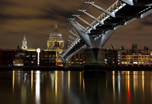 Millennium Bridge, London, River Thames, South Bank