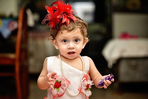 Girl, Baby, Child, Kid, Childhood, Pearls, Necklace