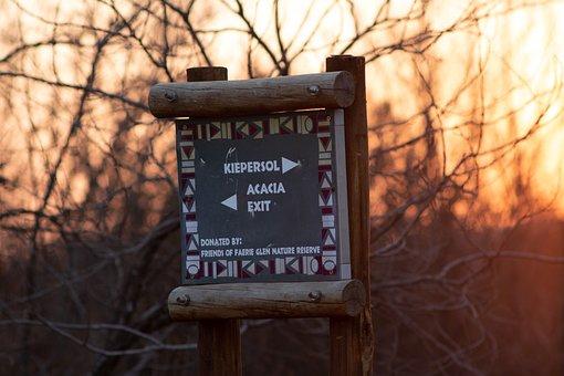 Faerie Glen Nature Reserve, Park, Park Sign, Pretoria