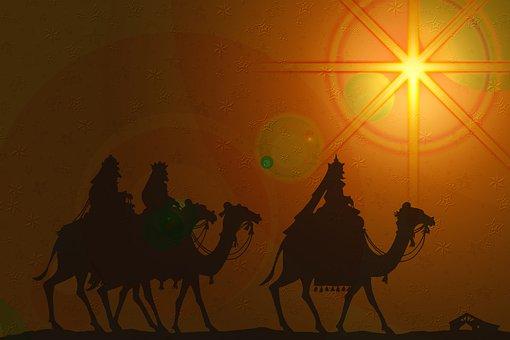 North Star, Bethlehem Star, Three Kings, Silhouettes