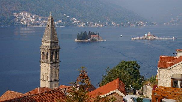 Montenegro, Bay, Buildings, Town, Waterfront