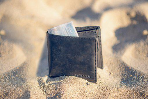 Wallet, Money, Sand, Leather Wallet, Banknote, Cash