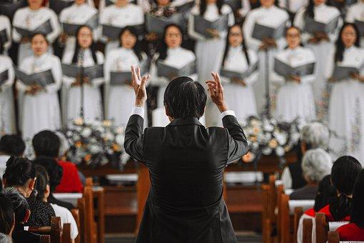 Choir, Choir Master, Church, Conductor, Chorale