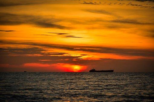 Seaside, Sea, Coast, Clouds, Sihanoukville, Cambodia