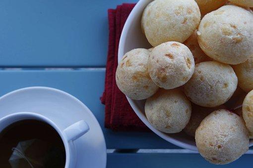 Bread, Cheese, Coffee, Pão De Queijo
