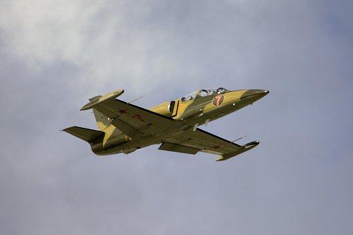 Fighter Jet, Flying, Military, Green, Jet, Plane