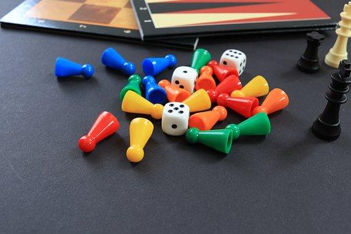 Dice, Game, Gambling, Winning, Board Game, Fun, Token